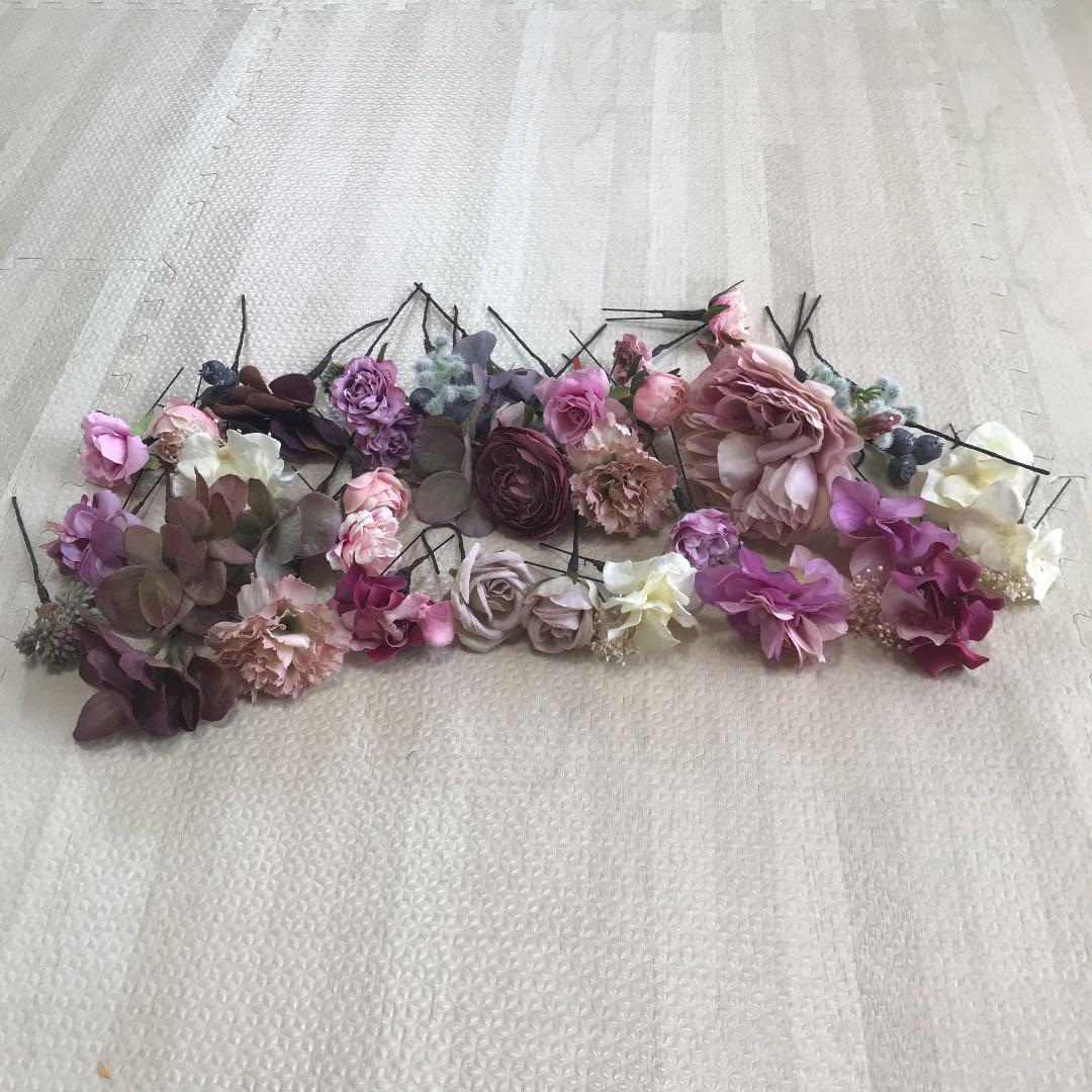 アクセサリー 造花 パーツ