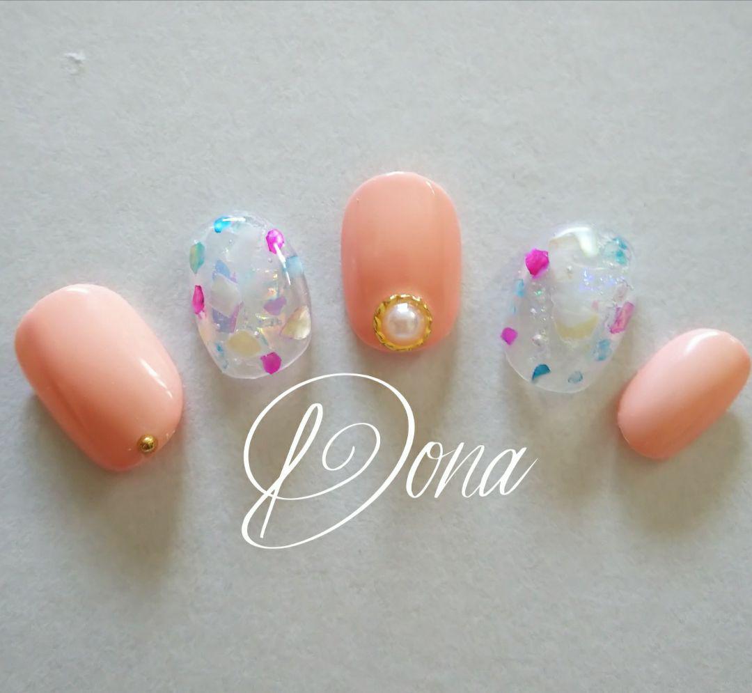 ネイル ピンク 夏