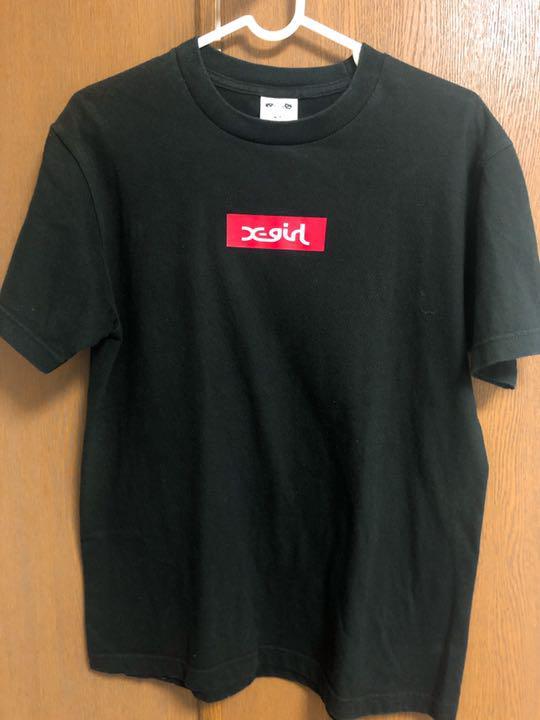 x-girl ロゴtシャツ
