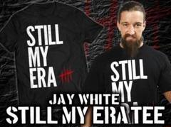 "Thumbnail of ""新日本プロレス ジェイ・ホワイト「STILL MY ERA」Tシャツ(黒)【L】"""