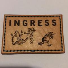 "Thumbnail of ""Ingress 鳥獣戯画カエルパッチ 75mm×50mm"""