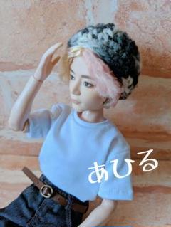"""Thumbnail of """"■ハンドメイド BTS マテルドール用 ニット帽 グレー〜ホワイトグラデーション"""""""
