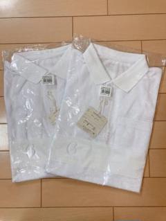 "Thumbnail of ""新品未使用 ベルメゾン ポロシャツ 白 半袖 160  2枚セット"""