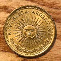 "Thumbnail of ""アルゼンチン「5月の太陽」5ペソ硬貨"""