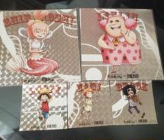 "Thumbnail of ""ワンピース 非売品 ホロ  menu メニュー キラ シール ファイル"""