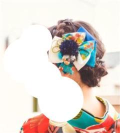 "Thumbnail of ""青髪飾り七五三 成人式 青リボン髪飾り 和装髪飾り 振袖 浴衣 ブルー"""