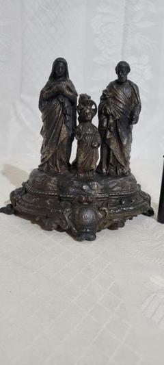 """Thumbnail of """"アンティーク 時代物 真鍮製 聖家族像 幼子イエス、ヨセフ、聖母マリア"""""""