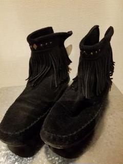 フリンジブーツ黒