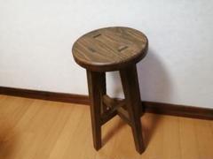 """Thumbnail of """"木製スツール 高さ52cm 丸椅子 stool"""""""