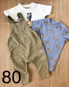 "Thumbnail of ""80ZARAベイビー オーバーオール&Tシャツ3点セット"""