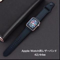 "Thumbnail of ""Apple Watch レザーバンド 42/44㎜ ブラック"""