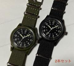 "Thumbnail of ""2カラーセット◇ミリタリーウォッチ型デザイン☆シンプルデザイン☆腕時計"""