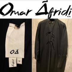 "Thumbnail of ""希少 極美品 OMAR AFRIDI ノーカラーオーバーロングコート ジャケット"""