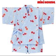 """Thumbnail of """"【美品】 MIKI HOUSEミキハウス 甚平 女の子 水色 うさぎ 100cm"""""""