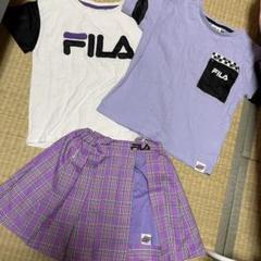 "Thumbnail of ""Girls2 ライトオンコラボ Tシャツ2枚&スカートセット 130cm"""