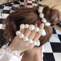 """Thumbnail of """"可愛い♡パール ヘアゴム シュシュ 真珠 韓国 ブレスレット フォーマル 結婚式"""""""