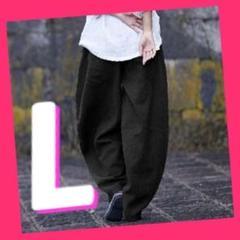 """Thumbnail of """"【売れすぎてごめんなさい】新品 エスニック サルエル パンツ カジュアル 黒L"""""""