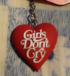 "Thumbnail of ""Girls Don't Cry ハート ★ロゴ キーホルダー( ×2)"""