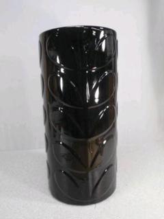 """Thumbnail of """"送料無料!陶器製、傘立て。優しい若葉が溢れています。高級感の黒、小難あり8-4"""""""