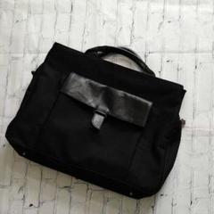 """Thumbnail of """"イタリア製●sabatic●ビジネスバッグ 黒 本革×ナイロン PCバッグ"""""""