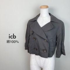"Thumbnail of ""icb アイシービー レディース カーキ ジャケット ショート丈"""