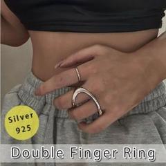 """Thumbnail of """"リング 指輪 フリーサイズ ダブルフィンガーリング 変形リング カービング"""""""