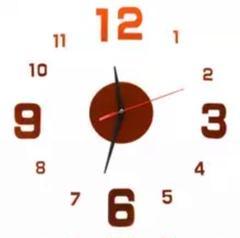 "Thumbnail of ""3Dウォールクロック レッド DIY壁時計 ウォールステッカー 韓国 立体時計"""