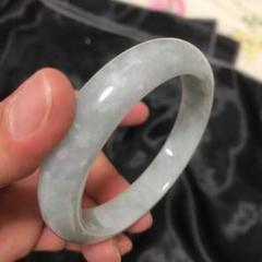 "Thumbnail of ""もちもち氷種翡翠の腕輪輪の口57 mm"""