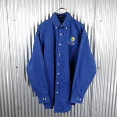 "Thumbnail of ""No1244 ワークシャツ OPTERRA カラフル 長袖 刺繡 青"""