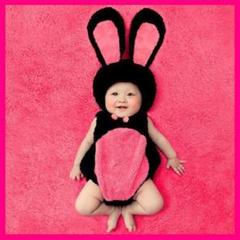 "Thumbnail of ""ローズウサギ ベビー用 赤ちゃん 衣装 コスチューム 出産祝い お誕生日 記念"""