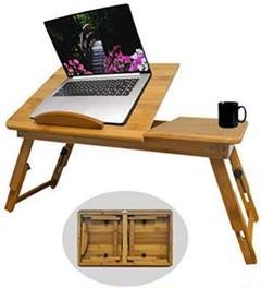 "Thumbnail of ""【4種類の高さ調整可能】竹製 ベッドテーブル 天然竹製 ローテーブル 折りたたみ"""