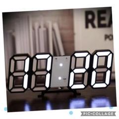 """Thumbnail of """"新品未使用≫≫  黒枠白光 3Dデジタル時計 目覚まし 暗闇に数字が浮かぶ!"""""""