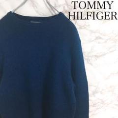 """Thumbnail of """"トミーヒルフィガー ワンポイント刺繍 フラッグロゴ ニット ネイビー S"""""""