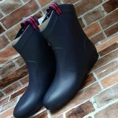 "Thumbnail of ""新品未使用●レインブーツ●ショート●雨靴L●23.5~24●長靴●ネイビー①"""