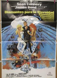 "Thumbnail of ""希少!映画『007 ダイヤモンドは永遠に』スペイン版オリジナルポスター!"""