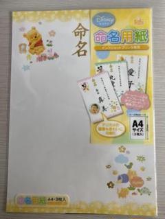 "Thumbnail of ""ディズニー 命名用紙"""