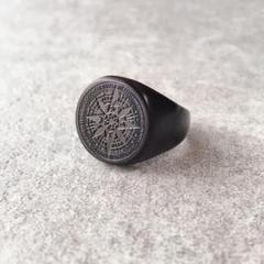 "Thumbnail of ""compass press RING【マットブラック】"""