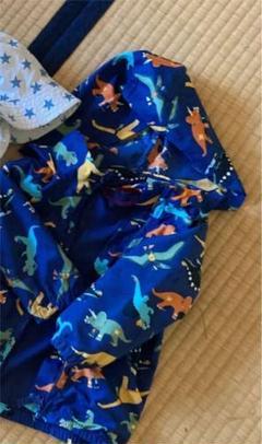 """Thumbnail of """"恐竜クマさんナイロンアウター  95センチ 2枚、星柄帽子 50センチまとめ売り"""""""