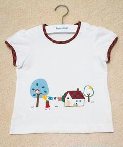 "Thumbnail of ""極美品 familiar ファミリア チェック パイピング Tシャツ 100"""