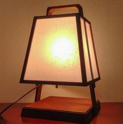 """Thumbnail of """"YAGIDAI 行灯 灯篭 木製 テーブルランプ 露地行灯 和風 和室 照明"""""""