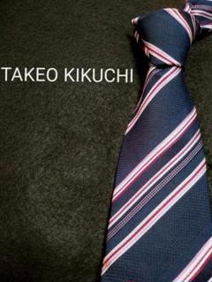 "Thumbnail of ""【美品】ハイブランド TAKEO KIKUCHI ネクタイ 人気ストライプ柄"""
