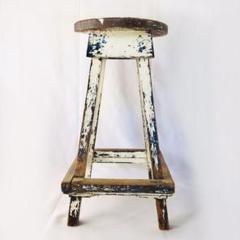 """Thumbnail of """"アンティーク 木製 ハイスツール バー カウンターチェア 丸椅子 ウッドチェア"""""""