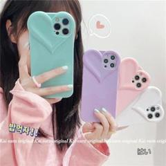 "Thumbnail of ""iPhone11 ケース  無地のハート型"""