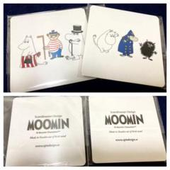 "Thumbnail of ""新品 moomin ムーミン オプトデザイン 白樺 コースター 2枚セット"""