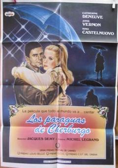 "Thumbnail of ""カトリーヌ・ドヌーヴ主演!映画『シェルブールの雨傘』スペイン版オリジナルポスター"""