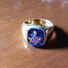 "Thumbnail of ""激レア 金 18k フリーメーソン Freemason ヴィンテージ 指輪"""