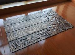 "Thumbnail of ""アンティーク調【leaf.welcome】ガーデンマット 玄関マット  屋外用"""