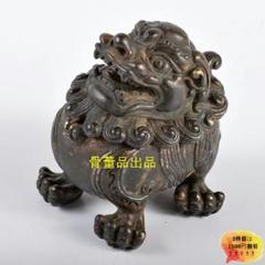 "Thumbnail of ""中国 古銅鍍金 獅子香炉 D R353163"""