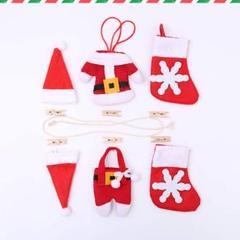 """Thumbnail of """"在庫処分‼️ 激安‼️ ★かわいい飾りクリスマス飾り付け《布製13点長さ100㎝ 》"""""""