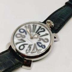 "Thumbnail of ""【正規稼働品】ガガミラノ 27007 クォーツ マニュアーレ40 腕時計 付属品"""